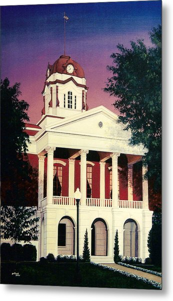 White County Courthouse Metal Print