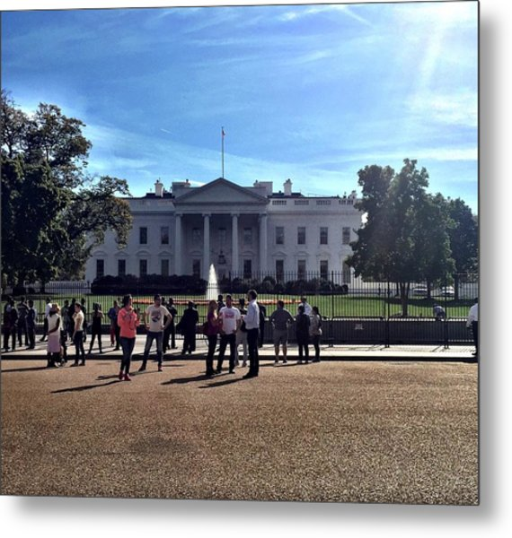 White House Protest Metal Print