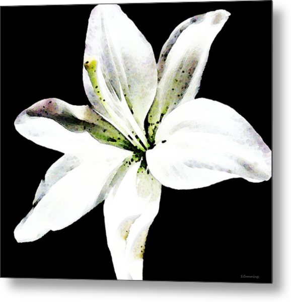 White Lily By Sharon Cummings Metal Print by William Patrick
