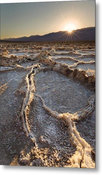 Death Valley - White Ocean Metal Print