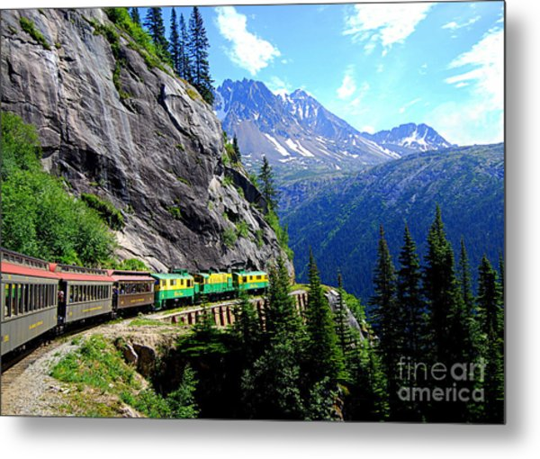 White Pass And Yukon Route Railway In Canada Metal Print
