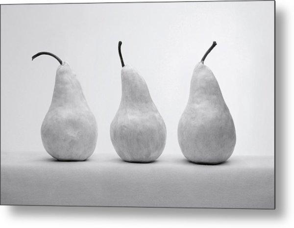 White Pears Metal Print