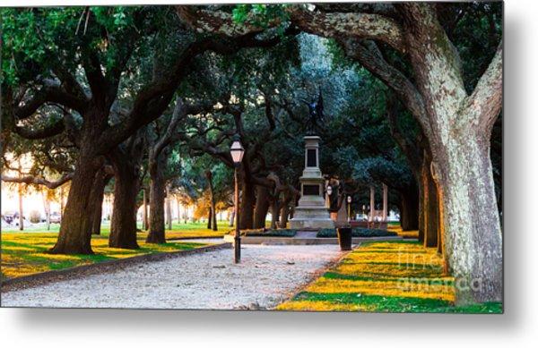 White Point Garden Walkway Charleston Sc Metal Print