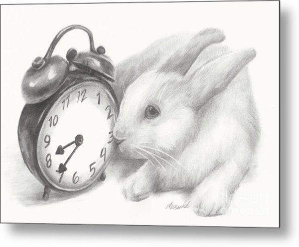 White Rabbit Still Life Metal Print