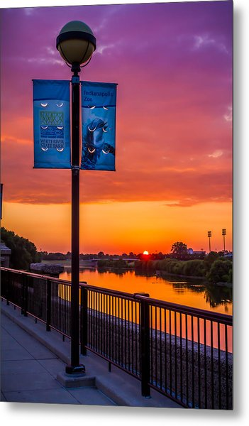 White River Sunset Metal Print