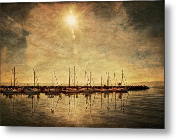 White Rock Sunset Metal Print