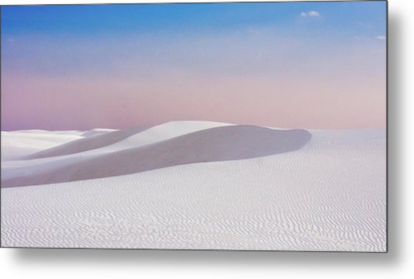 White Sand Dunes Metal Print