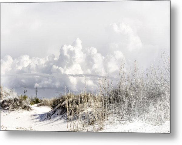 White Sands Winter Metal Print