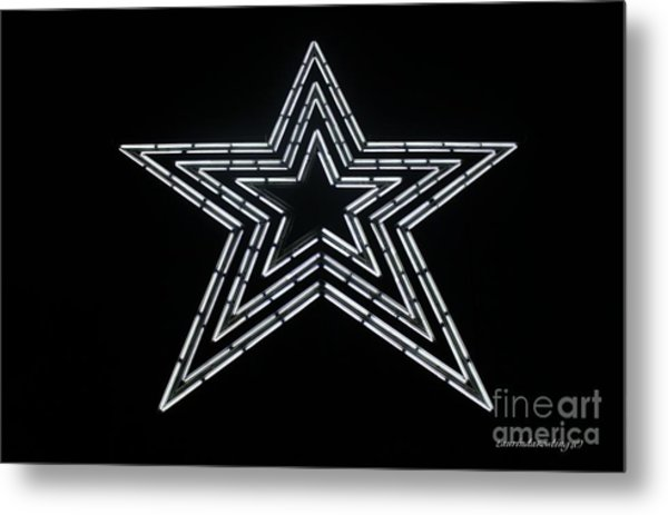 White Star Metal Print