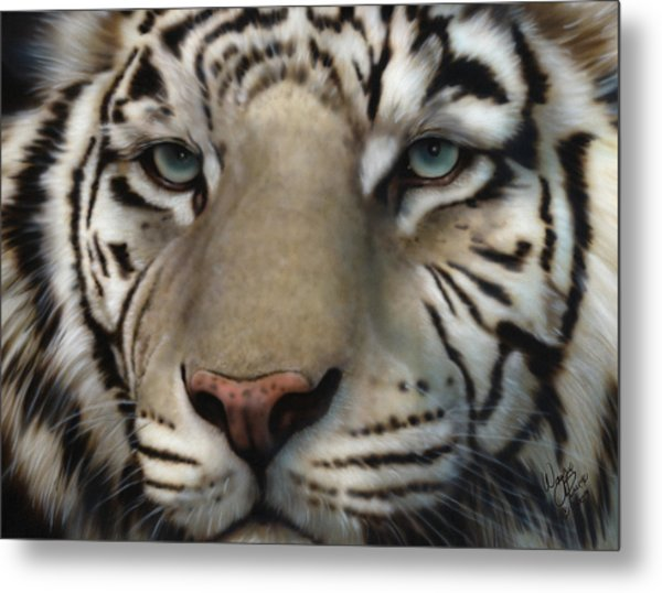 White Tiger - Up Close And Personal Metal Print