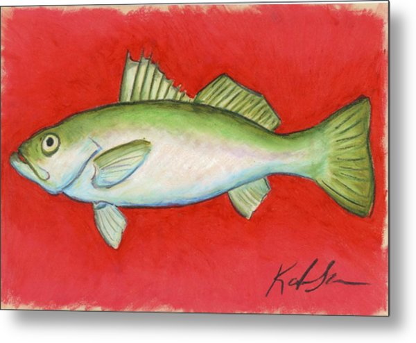 White Trout Metal Print