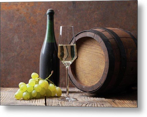 White Wine Metal Print by Sematadesign