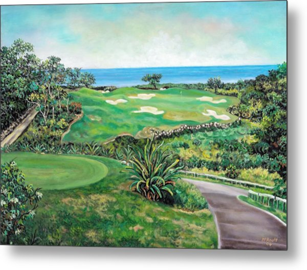 White Witch Golf Course #1 Hole #17 Metal Print