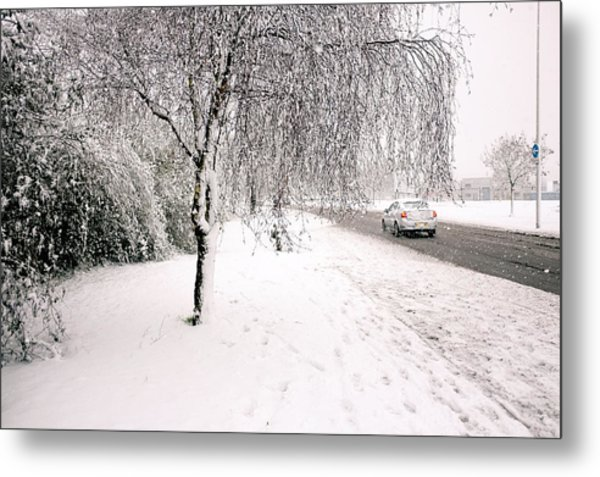 White World Metal Print