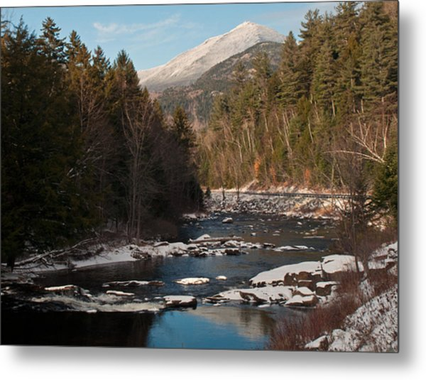 Whiteface Mountain At Monument Falls Metal Print