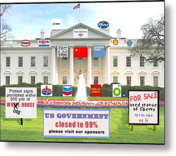 Whitehouse Sponsors  Metal Print by Robert Stagemyer