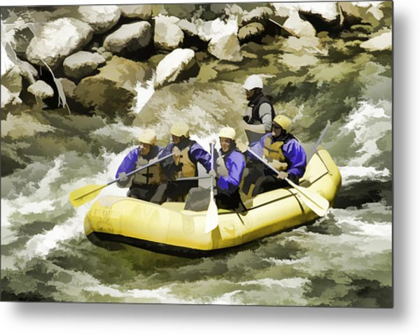 Whitewater Metal Print