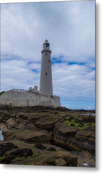 Whitley Bay St Mary's Lighthouse Metal Print
