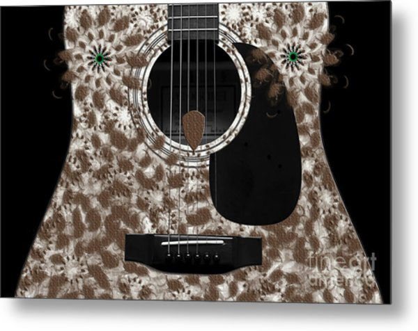 Who Are You - Owl Abstract Guitar Metal Print