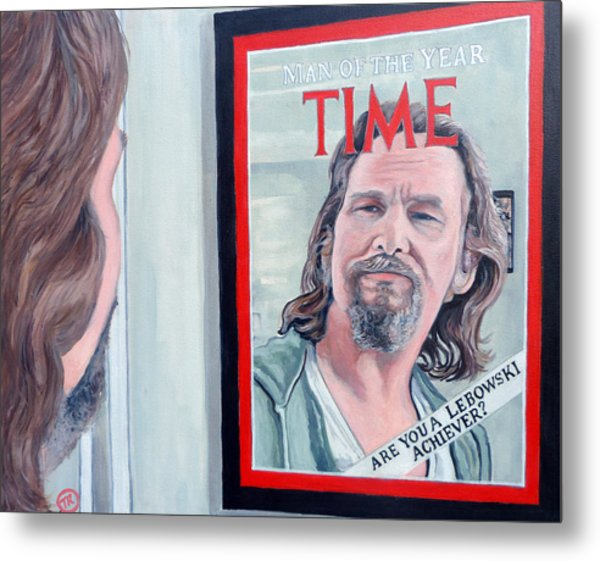 Metal Print featuring the painting Who Is This Guy by Tom Roderick