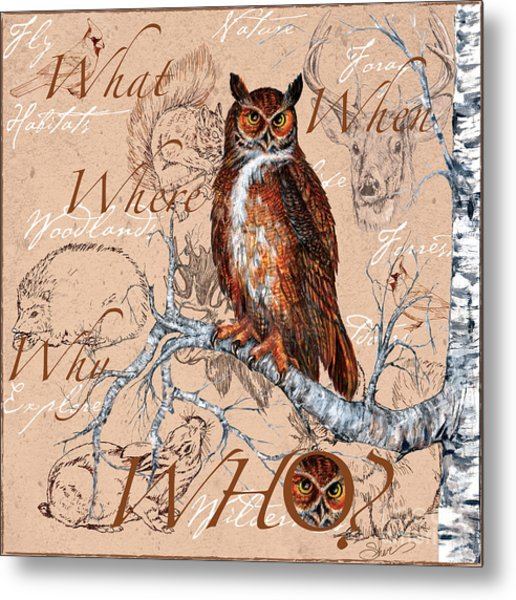 Who Owl Metal Print