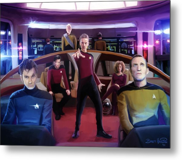 Who Trek Metal Print