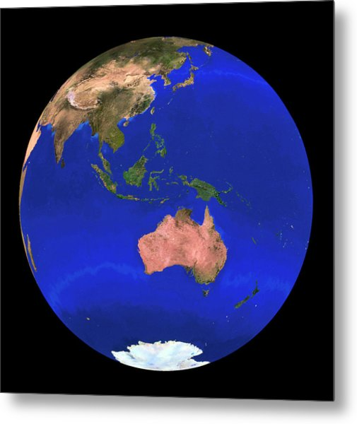 Whole Earth Noaa Satellite Mosaic (1km Resolution) Metal Print by Copyright 1995, Worldsat International And J. Knighton/science Photo Library
