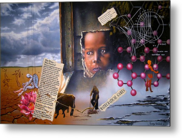 Why Hunger? Why Poverty? Metal Print