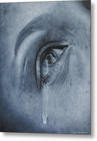 Why Is She Crying Metal Print