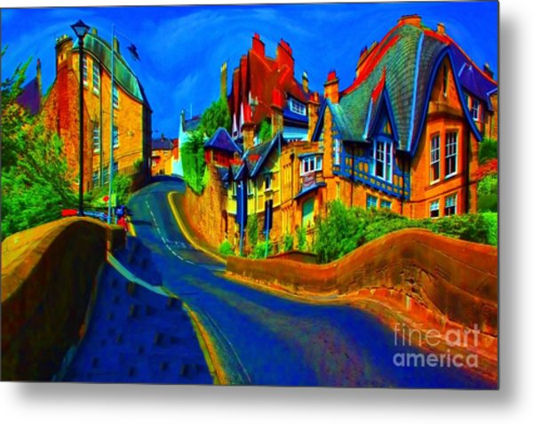 Wibbly Wobbly Village Metal Print