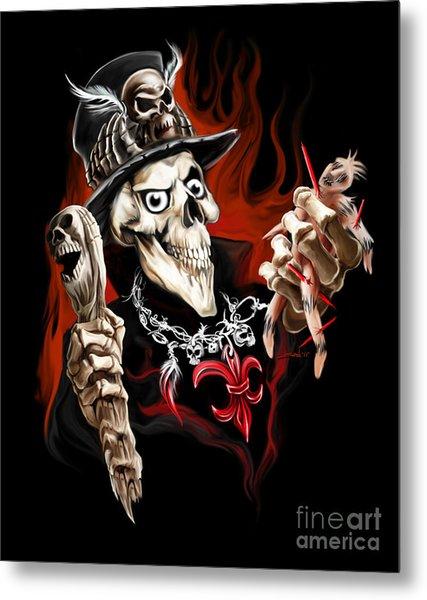 Wicked Voodoo Doctor Metal Print