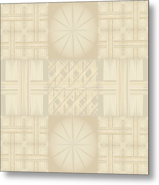 Wicker Quilt Metal Print