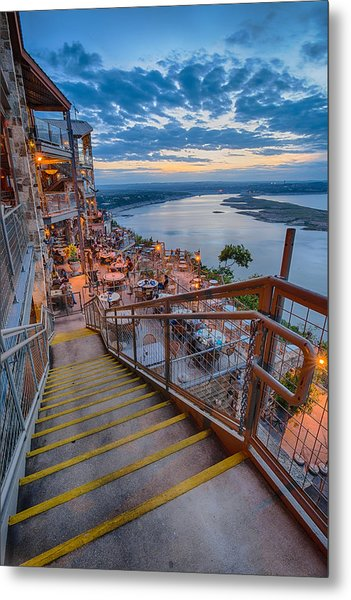 Wide Angle View Of The Oasis And Lake Travis - Austin Texas Metal Print