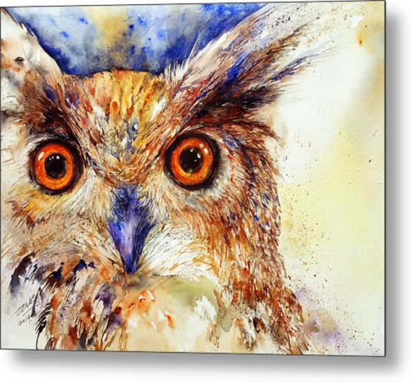 Wide Eyed_ The Owl Metal Print