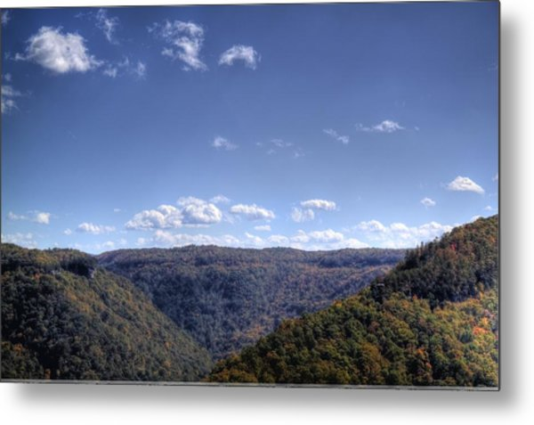 Wide Shot Of Tree Covered Hills Metal Print