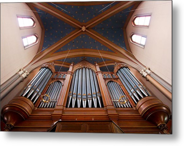 Wiesbaden Marktkirche Organ Metal Print