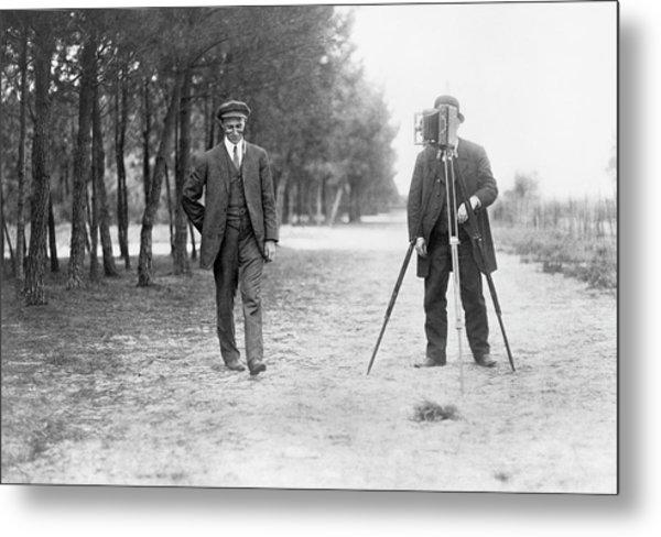 Wilbur Wright And Photographer Metal Print