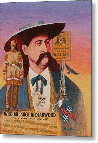 Wild Bill Hickok  Metal Print by J W Kelly