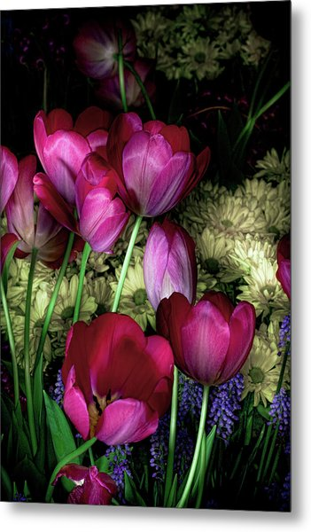 Wild Crazy Beautiful Tulip Garden Metal Print
