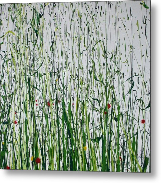 Wild Flowers And  Grasses No 4 Metal Print by Mike   Bell