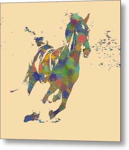 Wild Horse Metal Print by Soumya Bouchachi