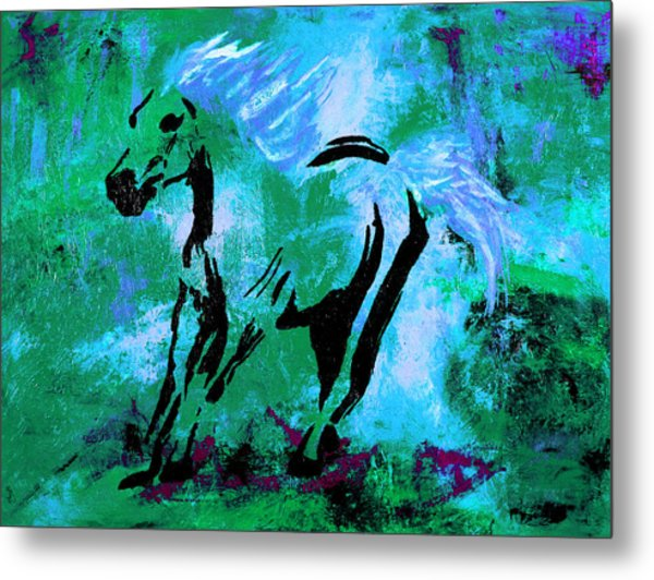 Wild Midnight Metal Print