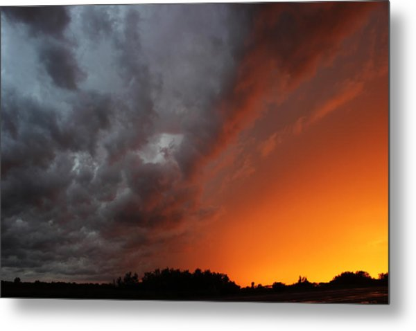 Wild Storm Clouds Over Yorkton Metal Print