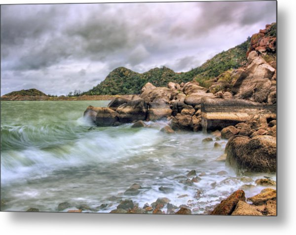 Wild Weather On Lake Altus - Oklahoma - Quartz Mountains Metal Print