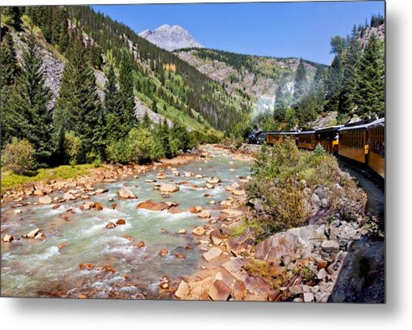 Wild West Train Ride Along The Animas River From Durango To Silverton Colorado Metal Print