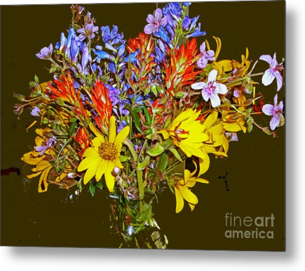 Wildflower Reminiscences Metal Print