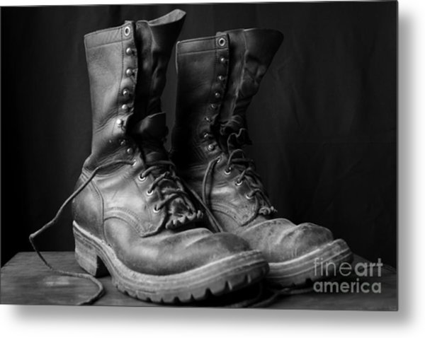 Wildland Fire Boots Still Life Metal Print