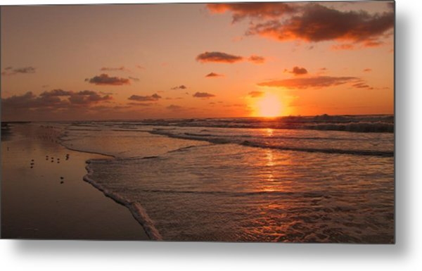 Wildwood Beach Sunrise II Metal Print