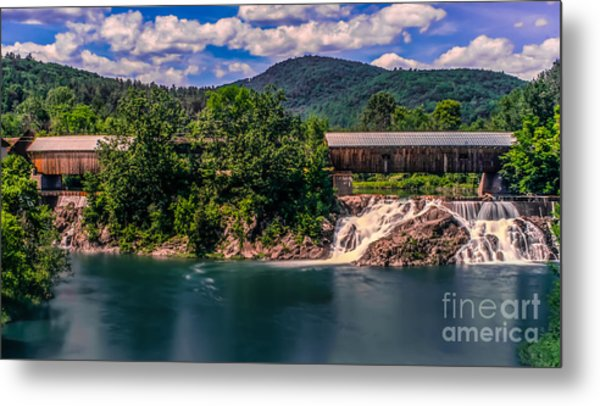 Willard Twin Bridge. Metal Print