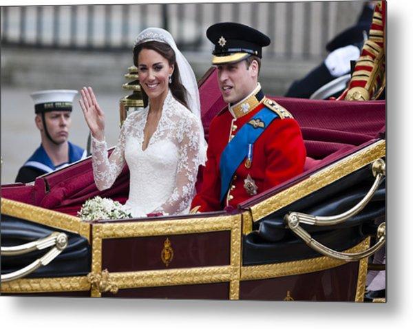 William And Kate Royal Wedding Metal Print